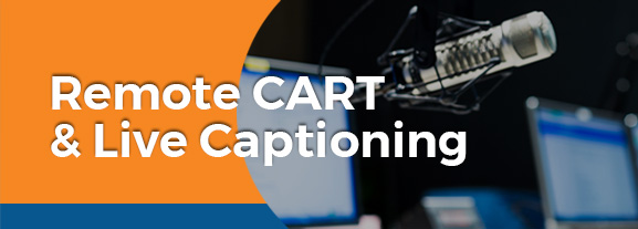 remote cart live captioning
